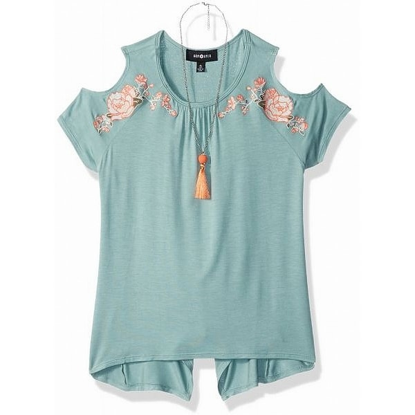 Shop Amy Byer Green Size 16 Girls Embroidered Cold Shoulder Knit Top - Free  Shipping On Orders Over  45 - Overstock - 27214344 a6b85c03c89a