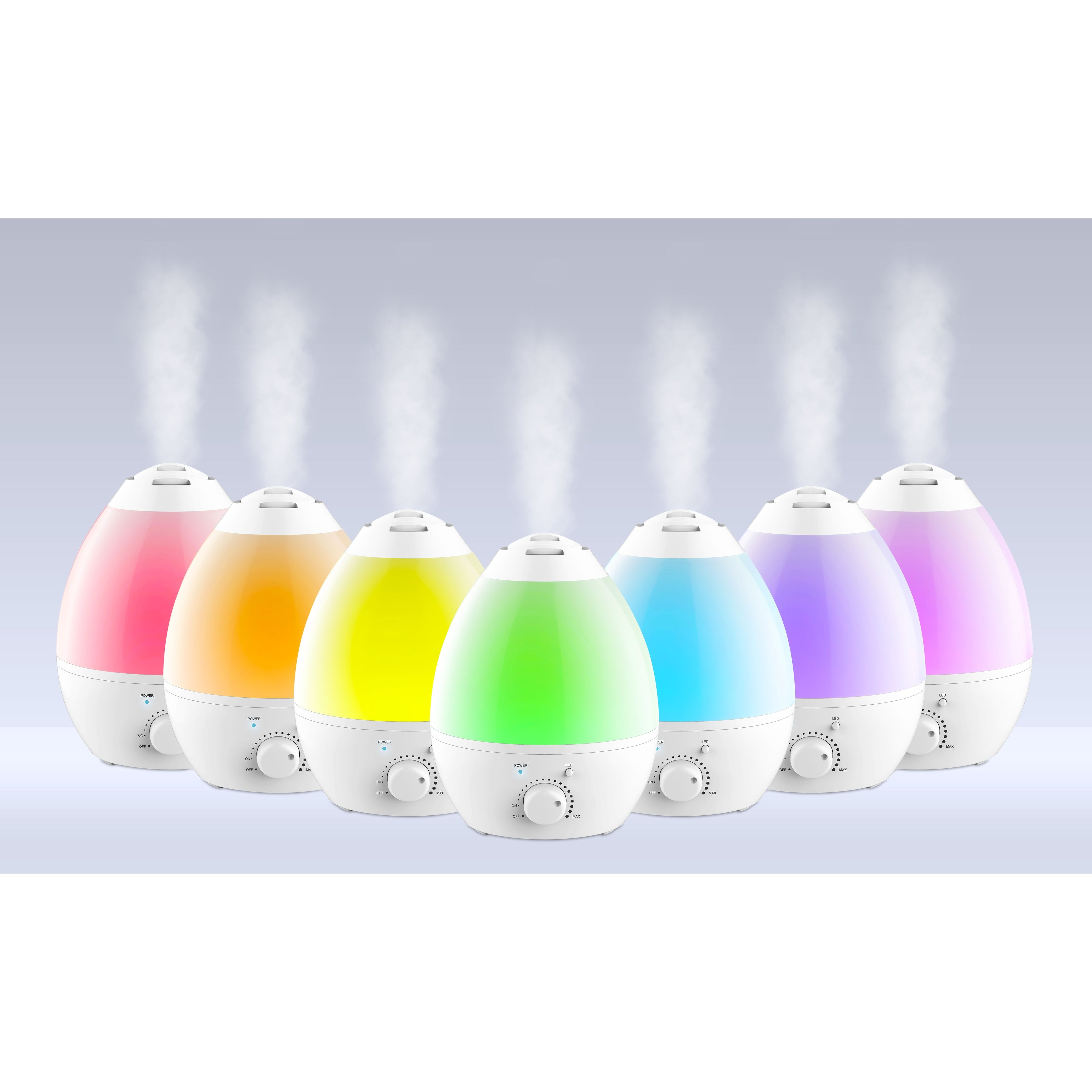 Bell & Howell Ultrasonic Color Changing Aroma Diffuser Humidifier, White - Thumbnail 0