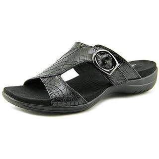 Easy Street Drama Women Black Croco Sandals