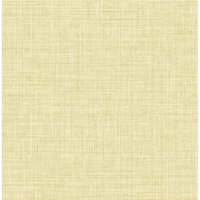 Barbary Yellow Crosshatch Texture Wallpaper - 20.5in x 396in x 0.025in