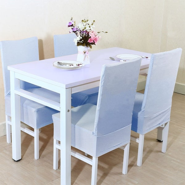 blue dining room chair covers | Unique Bargains Sky Blue Spandex Stretch Washable Dining ...
