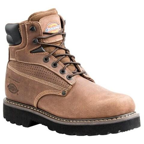 Dickies Men's Breaker Steel Toe Boot Brown Waterproof Full Grain Leather