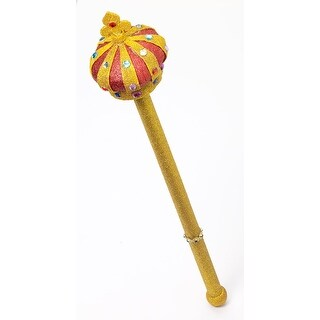 Royal Scepter With Gold Glitter Costume Accessory