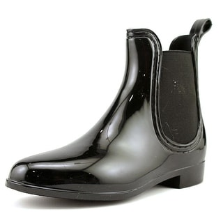 Dirty Laundry Chariot Women Round Toe Black Rain Boot