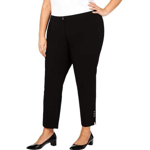 Calvin Klein Womens Pants Plus Dress Mid-Rise Stretch