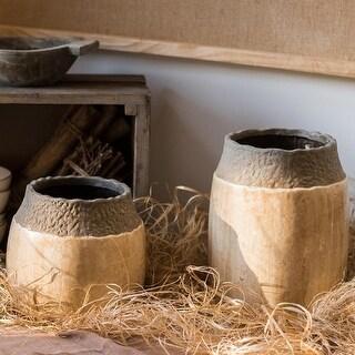RusticReach Khaki Coarse Pottery Jar