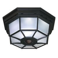 Heath Zenith HZ-4300 4 Light 360 Degree Motion Activated Outdoor Flush Mount Ceiling Fixture