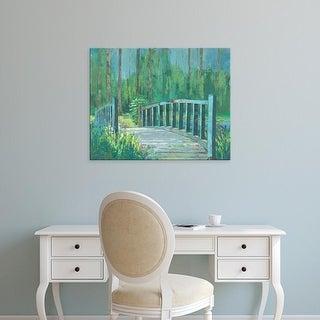 Easy Art Prints Julie Joy's 'A River Crossing I' Premium Canvas Art
