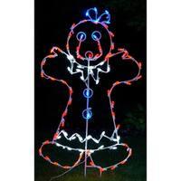 Christmas at Winterland WL-GM110-LED LED Light Mrs Gingerbread Woman - MultiColor