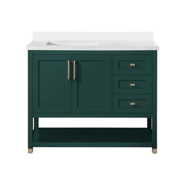Ove Decors Ralph Ii 42 In Single Sink Bathroom Vanity In Emerald Green Overstock 32809925