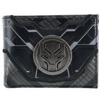 Marvel Black Panther Bifold Wallet with Medallion - One size
