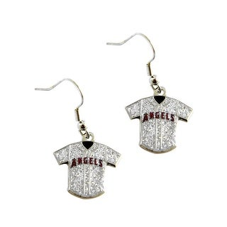 MLB LA Angels  Glitter Jersey Dangle Earring Set Charm Gift
