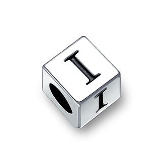 Bling Jewelry 925 Sterling Silver Block Letter I Charm Bead