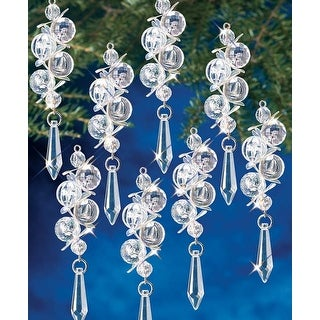 Irridescent Bubbles Makes 8 - Holiday Beaded Ornament Kit