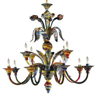 Metropolitan C7056/12 12 Light 2 Tier Candle Style Chandelier from the Camer Collection