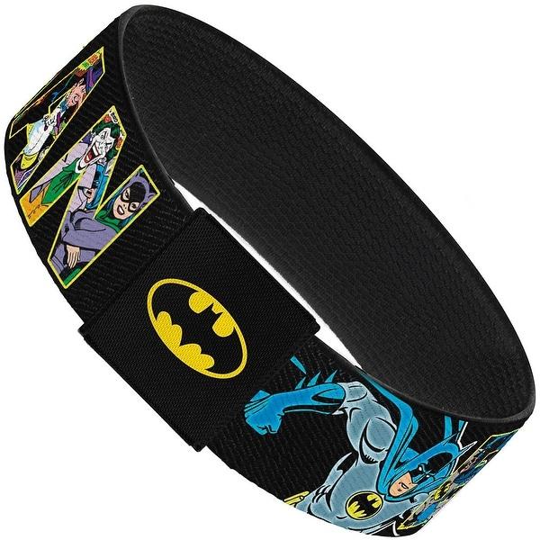 Batman Action Pose Black 8 Retro Characters Elastic Bracelet