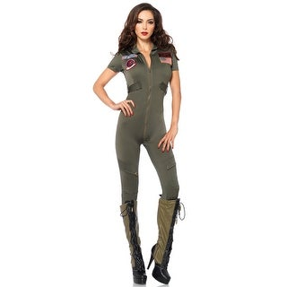 Hoty Top Gun Flight Suit Costume, Top Gun Jumpsuit Costume (2 options available)