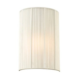 "PLC Lighting 73060BEIGE Ellipse-I Single Light 8"" Wide Wall Sconce - ADA Compliant - Silver"