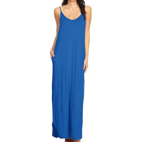 Women's Solid Long Maxi Casual Summer Dress