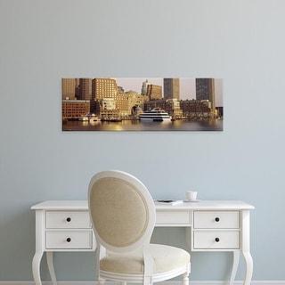 Easy Art Prints Panoramic Images's 'Waterfront, Boston, Massachusetts, USA' Premium Canvas Art
