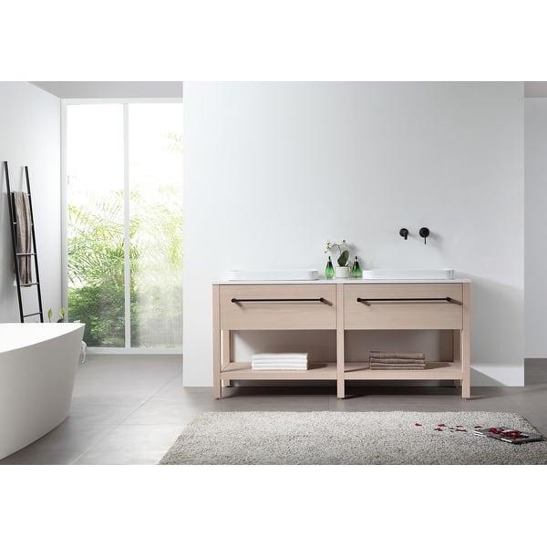 Beverly 67 Whitewash Freestanding Modern Bathroom Vanity Set Overstock 31924201