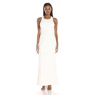 Calvin Klein Open Back Lace Sleeveless Evening Gown Dress - 2