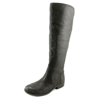 Jessica Simpson Randee Women Round Toe Leather Black Knee High Boot