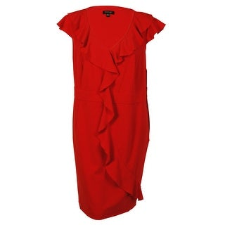 Spense Women's Ruffled Cascade Trim Dress