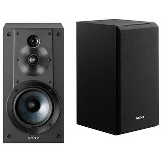 Sony SSCS5 3-Way 3-Driver Bookshelf Speaker System (Black) - Black