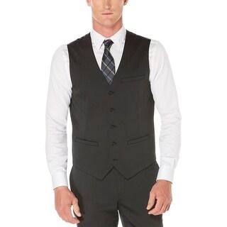 Perry Ellis Mens Suit Vest Sateen Slim Fit