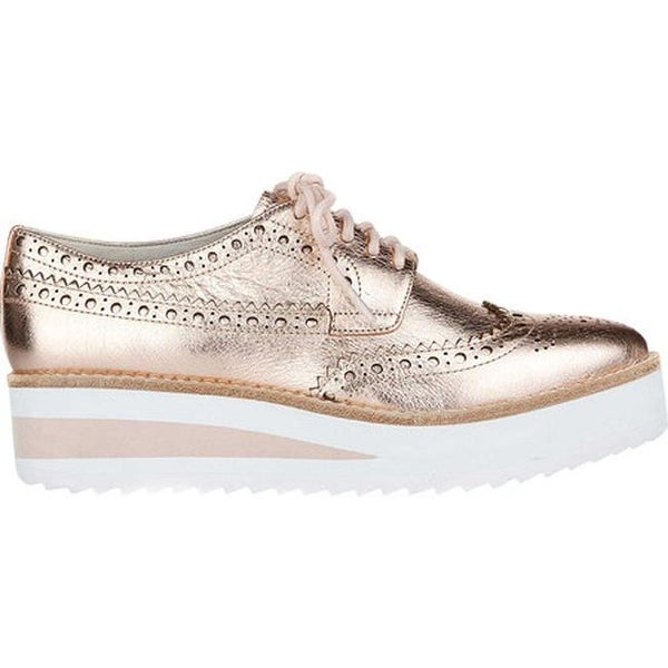 88eea8dd772 Shop Kenneth Cole New York Women s Roberta Wedge Sneaker Rose Gold Leather  - On Sale - Free Shipping Today - Overstock - 19473713