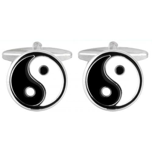 Yin Yang Harmony Peace Good Karma Cufflinks