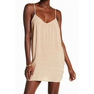 NYTT NEW Desert Sand Beige Womens Size Large L Open Back Slip Dress