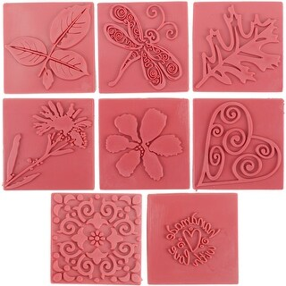 Soap Embossing Stamp Assortment 8/Pkg-Square