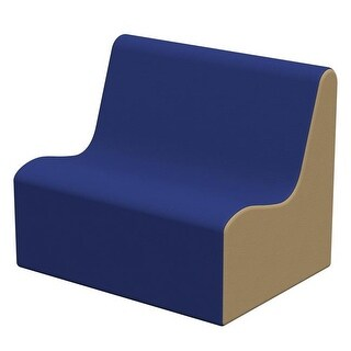 ECR4Kids 28 x 18 x 19.50 in. SoftZone Wave Toddler Sofa - Blue & Sand