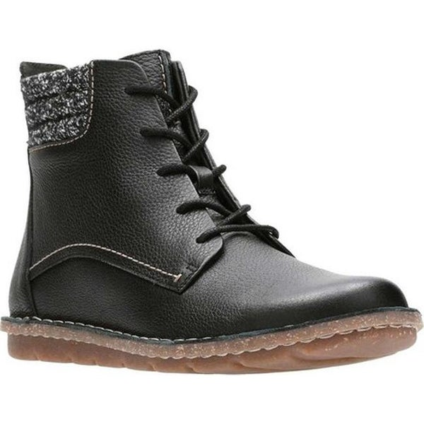 795a835d2a2 Clarks Women  x27 s Tamitha Rose Ankle Boot Black Full Grain Leather Textile