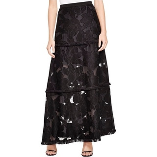 Elie Tahari Womens Tayla Maxi Skirt Long Burnout