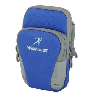 Wellhouse Authorized Sports Traveling Nylon Arm Bag Phone Pack Holder Blue S