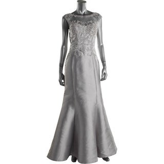 JS Collections Womens Embellished Prom Evening Dress