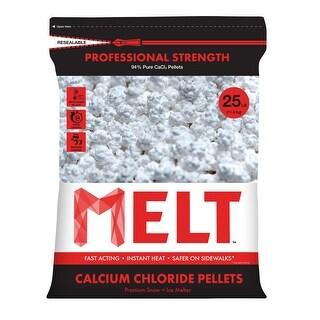 Snow Joe MELT25CCP 25-LB Professional Strength Calcium Chloride Pellets Ice Melter Resealable Bag
