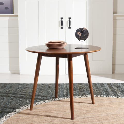 "SAFAVIEH Lovell Folding Round Dining Room Table - 35"" W x 35"" L x 29"" H"
