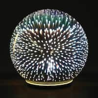 Sphere Accent Ball Lamp - Mercury Glass Starburst Ball LED Table Light