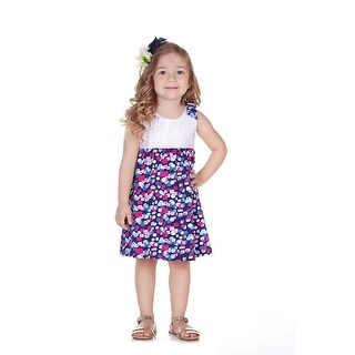Pulla Bulla Toddler Girl Infant Colorful Lace Bow Dress (More options available)