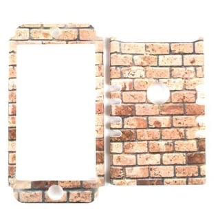 Unlimited Cellular Rocker Snap-On Case for Apple iPod Touch 5 (Light Red Bricks)
