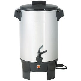 West Bend 58030 Coffee Party Percolator, Aluminum, 1090 Watts, 30 Cup