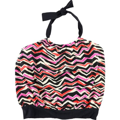 MagicSuit Womens Striped Bandini Swim Top, Black, 14