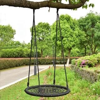 Costway 31.5'' Kid Tree Round Swing Net Outdoor Garden Children Toddler Hanging Rope Nest