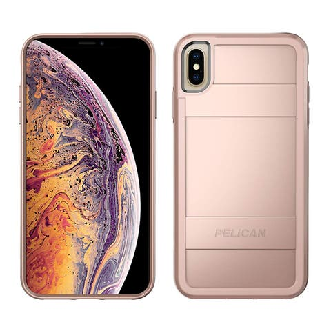 Pelican Protector Case for iPhone Xs Max - Metallic Rose Gold - Pink