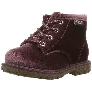 OshKosh B'Gosh Baby tlc velvet ankle boot Fabric Lace Up Ankle High Boots
