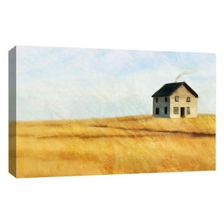 """PTM Images 9-126771  PTM Canvas Collection 10"""" x 8"""" - """"Water Color House"""" Giclee Rural Art Print on Canvas"""